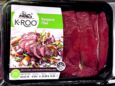 カンガルー肉は脂身が少なく筋繊維が多いのが特徴