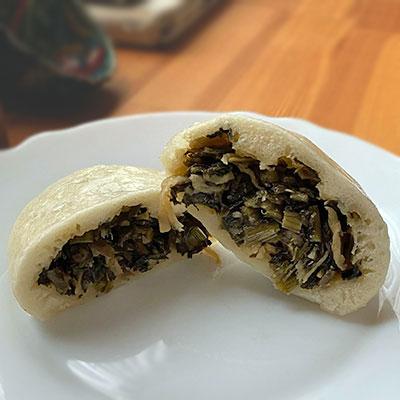 野沢菜はおやきの具材で大人気